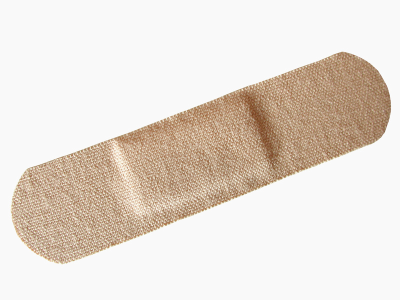 adhesive bandage on white background