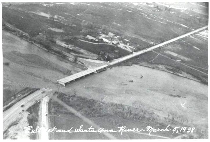 """E"" Street and Santa Anita River in San Bernardino - March 5, 1938"