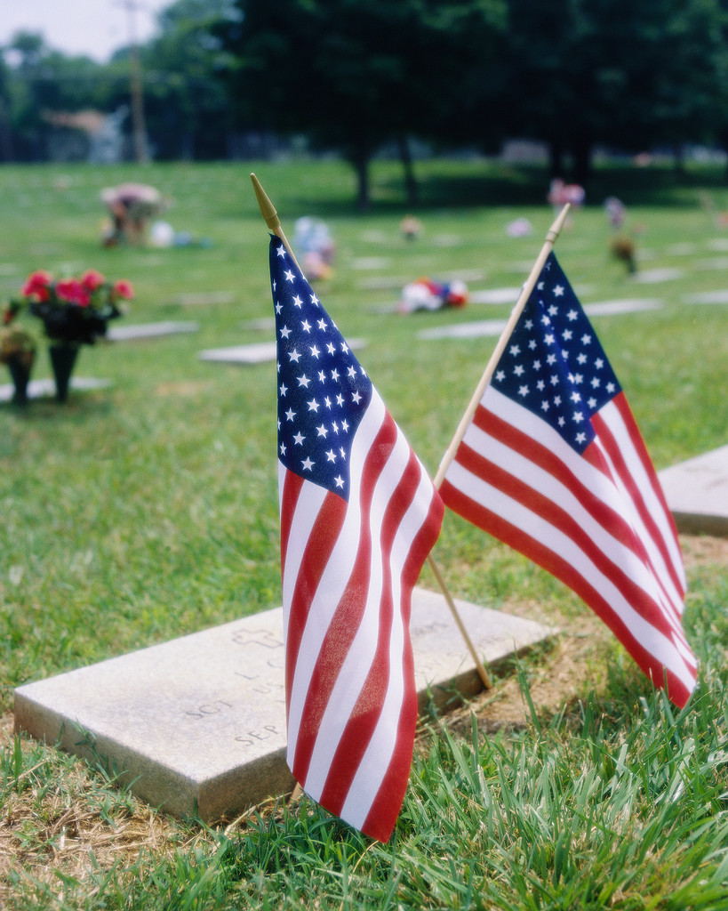 Flags at Grave