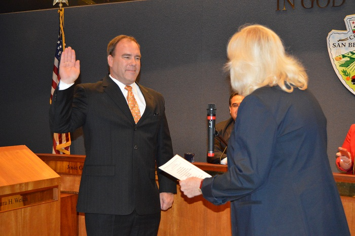 Hagman swearing in