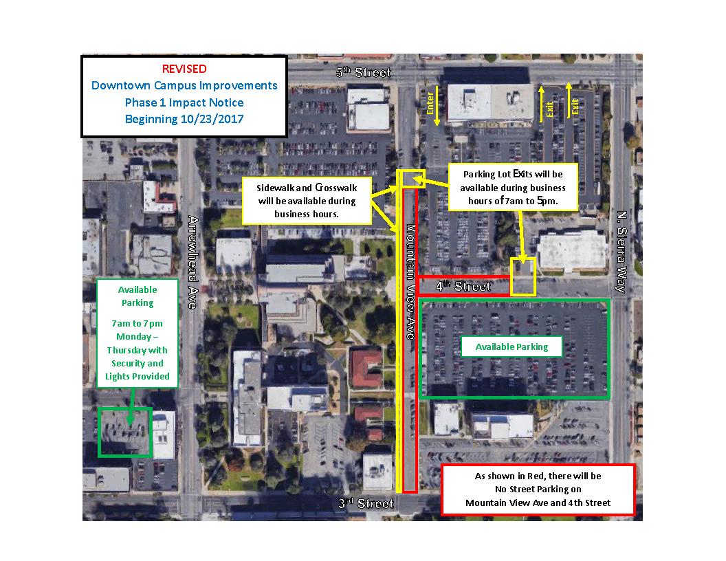 Government Center campus street improvements closures underway