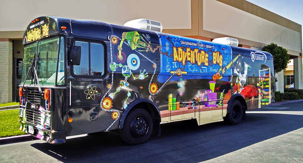 San Bernardino County Library Adventure Bus