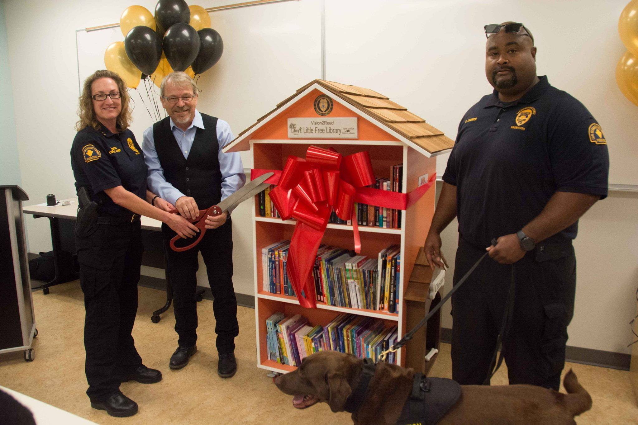 Probation Literacy Club Install Little Free Libraries County Of