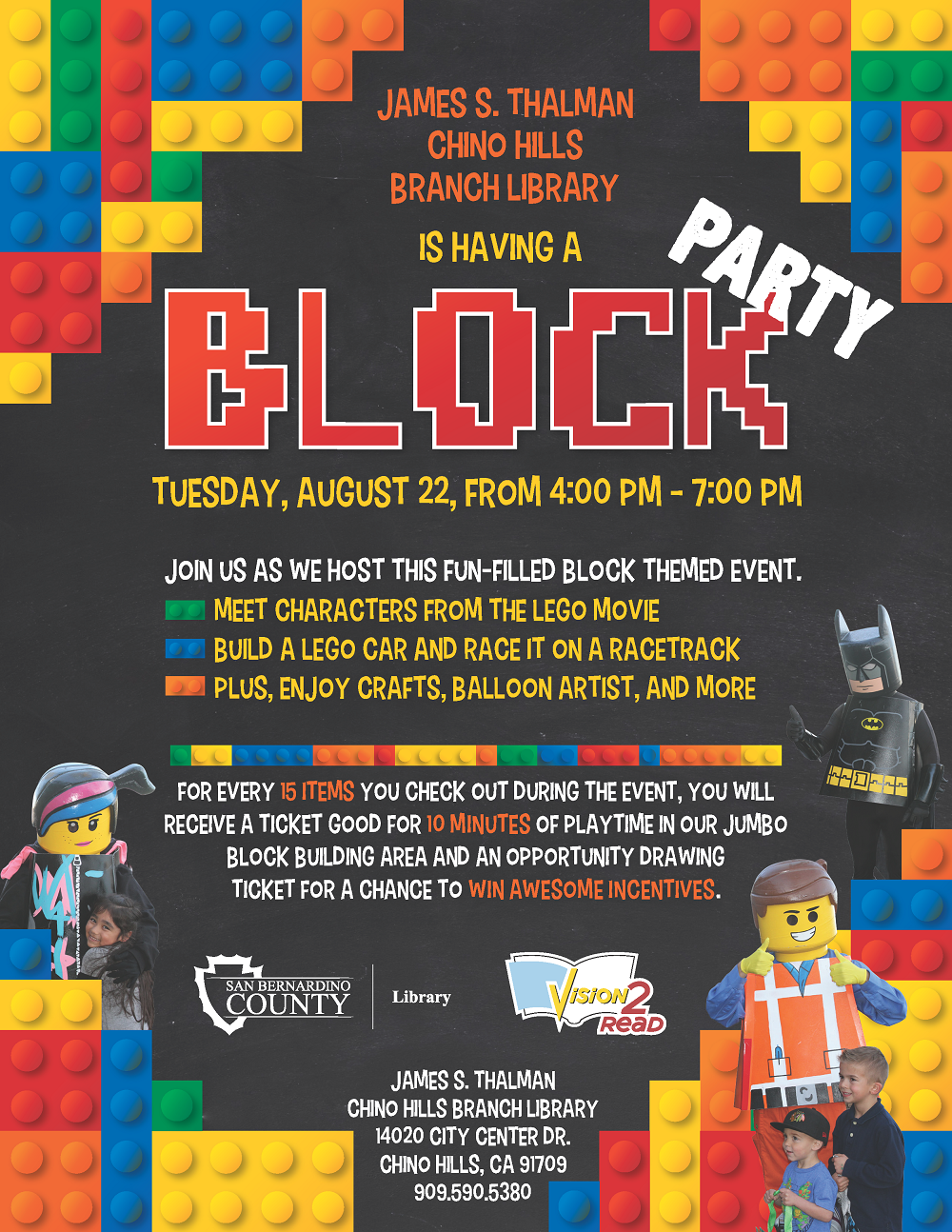 Join us for a Block Party at the Chino Hills Branch Library ...