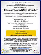 Trauma Informed flyer