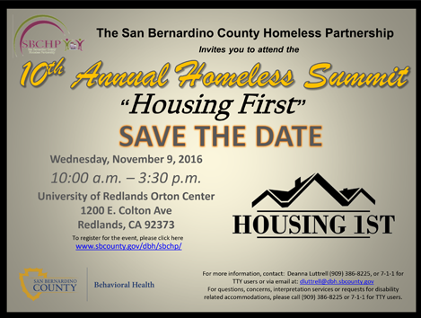 10th Annual Homeless Summit