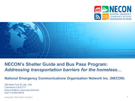 NECON's Shelter Guide and Bus Pass Program
