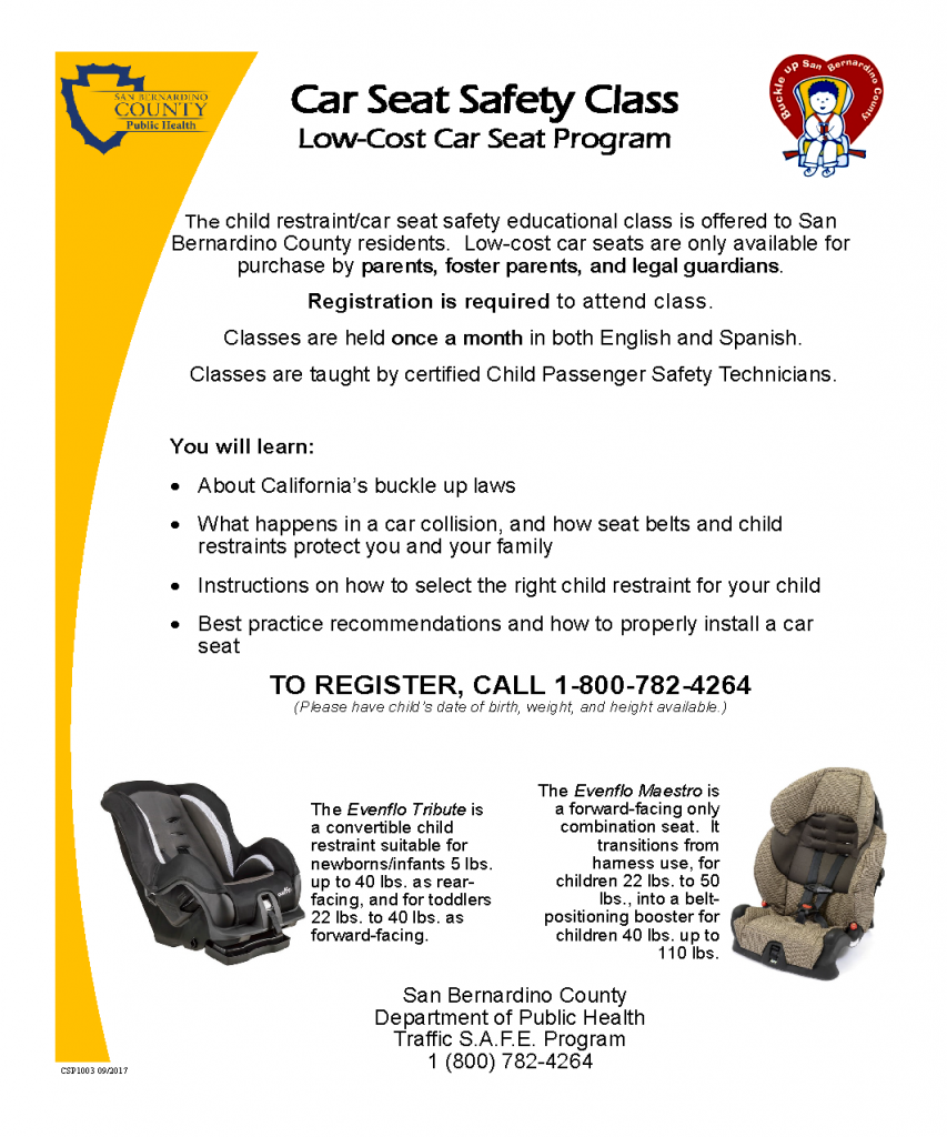 Free Car Seat Class Downtown Sb Department Of Public Health