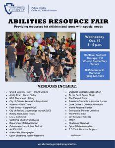 2019 Abilities Resource Fair Flyer