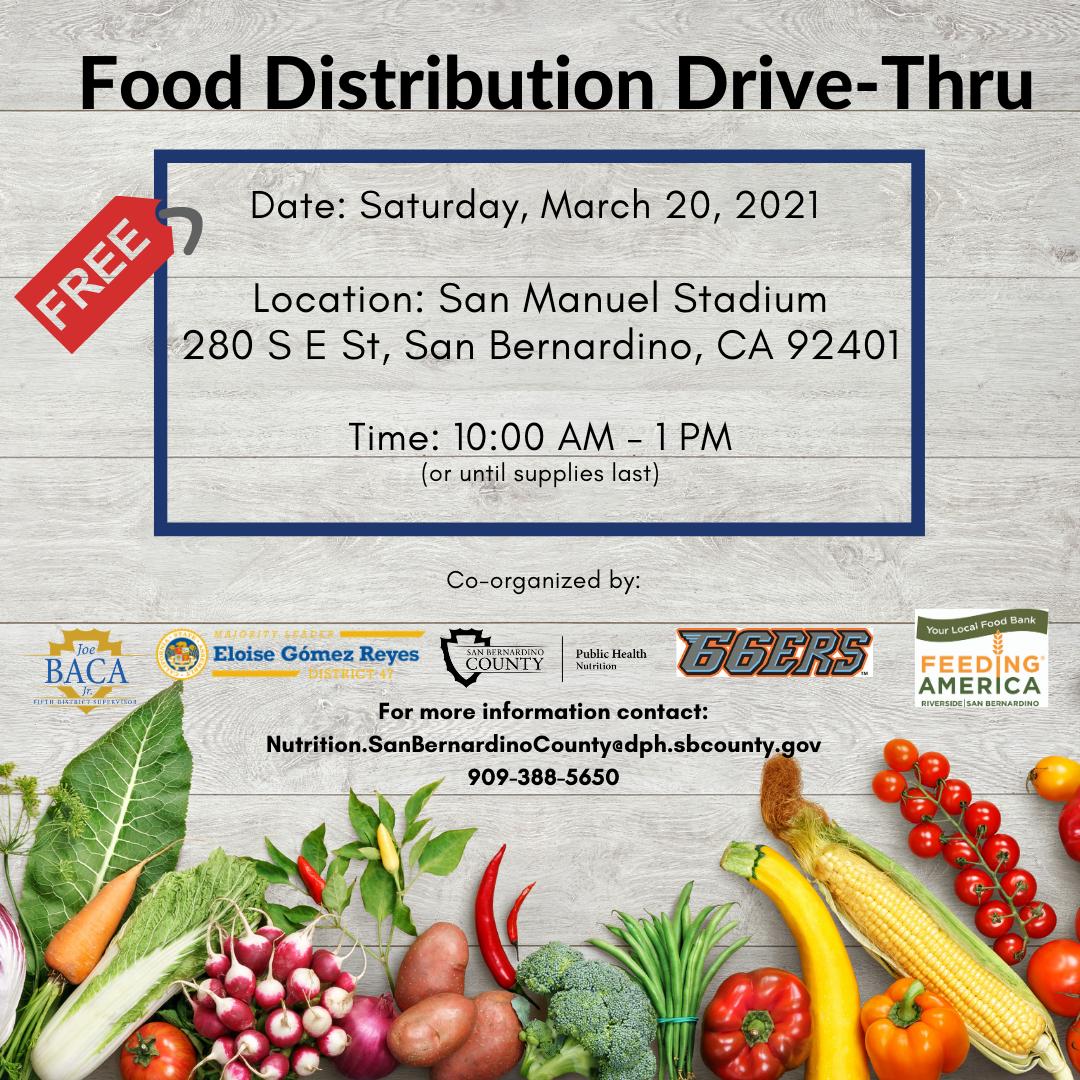 Food distribution event flyer