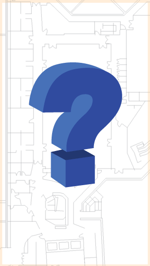 blueprint with question mark