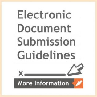 ectronic document submission guidelines