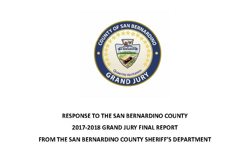 Response to 17-18 Grand Jury Fal Report from Sheriff's Dept. 1