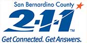 San Bernardino County 211 get connected. get answers.