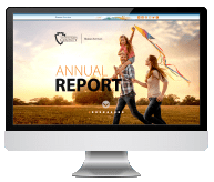 computer with annual reports screen saver