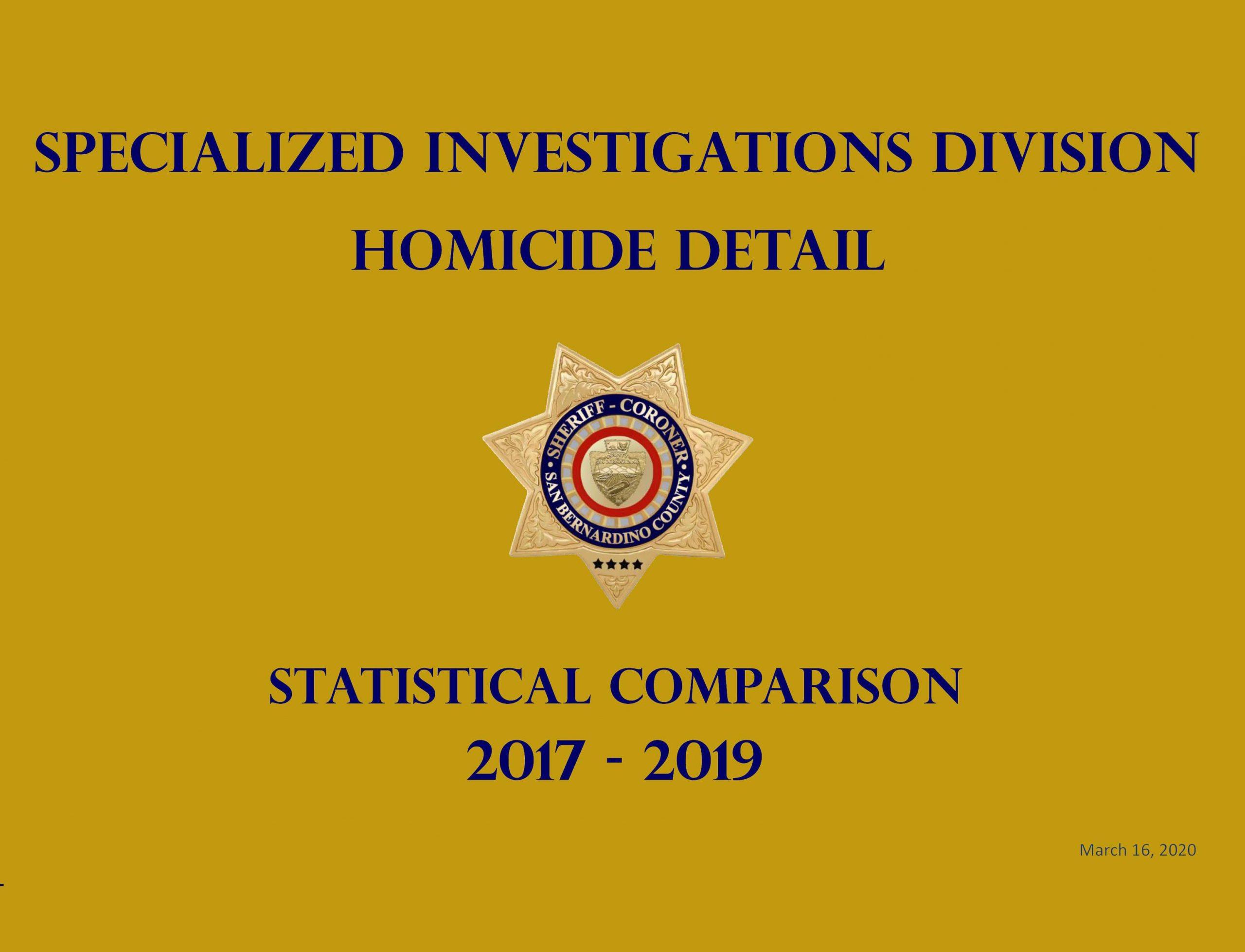 2017-2019 Homicide Stat Comp