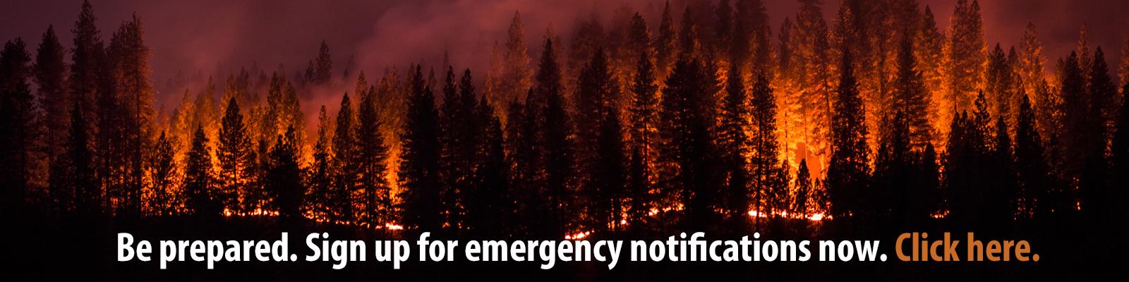 Sign up for emergency alerts