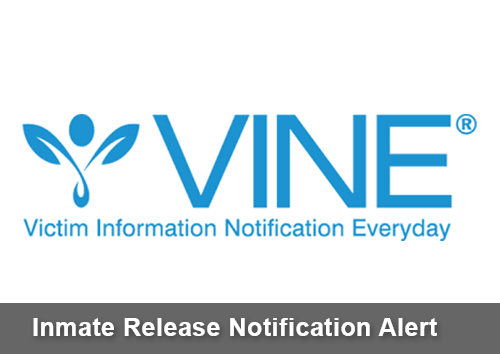 Inmate release notification alert