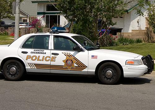 San Diego County Sheriffs Vehicle Parked — VACA