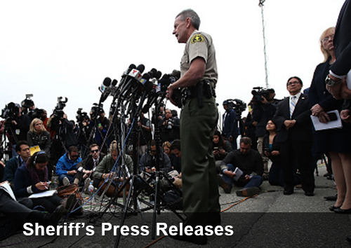 Sheriffs Press Releases