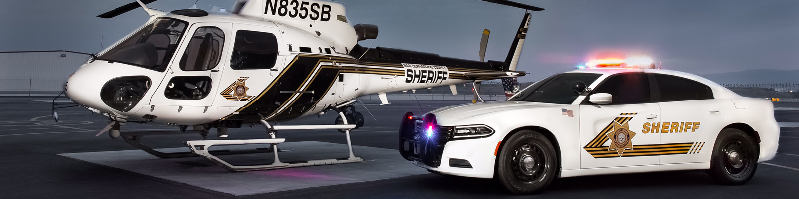Helicopter and Police Car