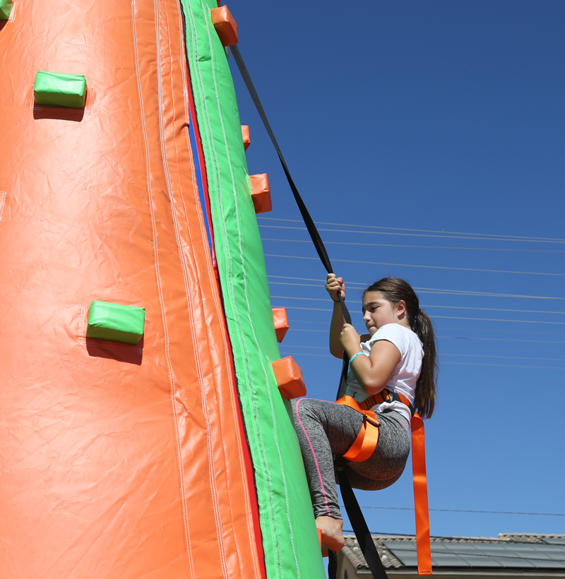 Girl climbing for Lets Move 2016