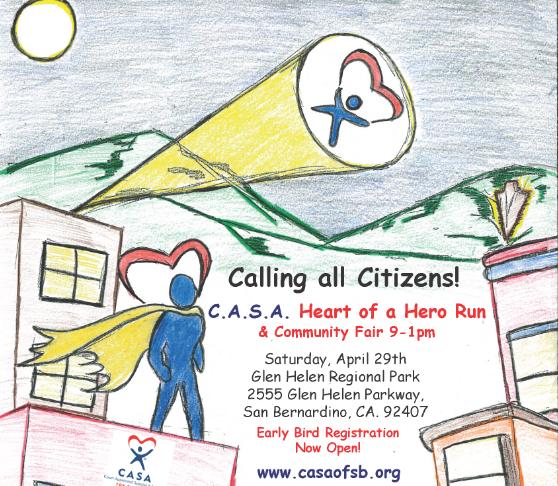 Saturday, April 29 Heart of a Hero Run
