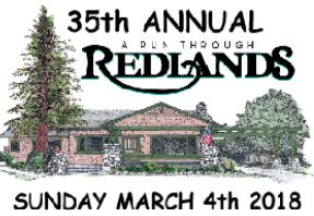 The Run Through Redlands is broken down into three separate races: a 5k, a 10k and a half marathon. All of the courses wind through beautiful Redlands tree lined streets, pass historic home and provide breathtaking views of the San Bernardino mountains.
