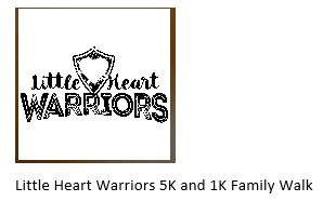 Little Heart Warriors is hosting our 7th annual 5k and 1k family event!! We are a group of familes that were brought together by our personal stories about Congenital Heart Defects. CHD's are a birth defects that does not discriminate and IS life threatening.