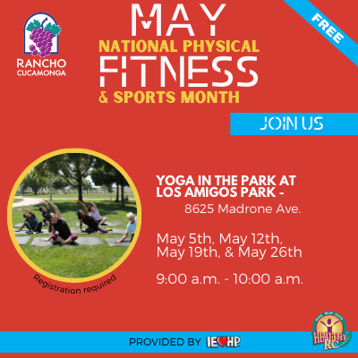 RC Yoga in the Park Event- May 5th, May 12th, May 19th, May 26th