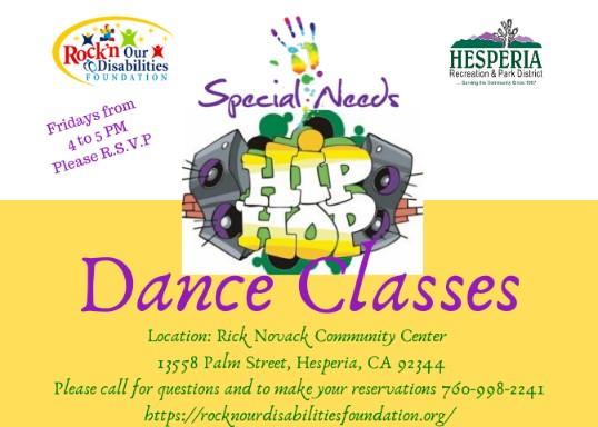 Rockin' our Disabilities Dance Classes-Fridays @ 4-5 p.m