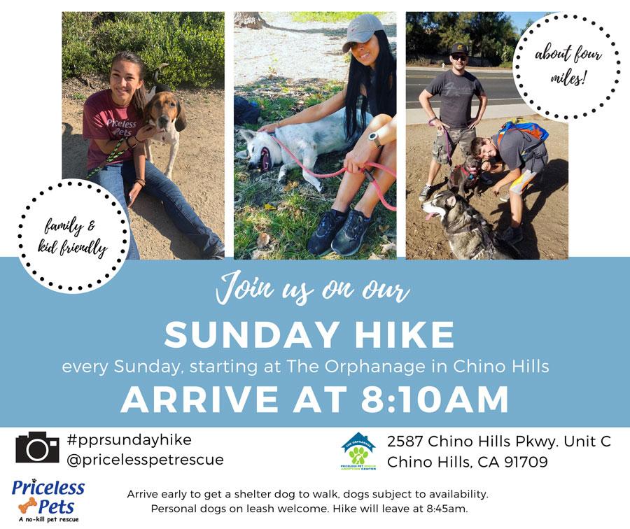 Chino Hills Priceless Pets June 13th Hike